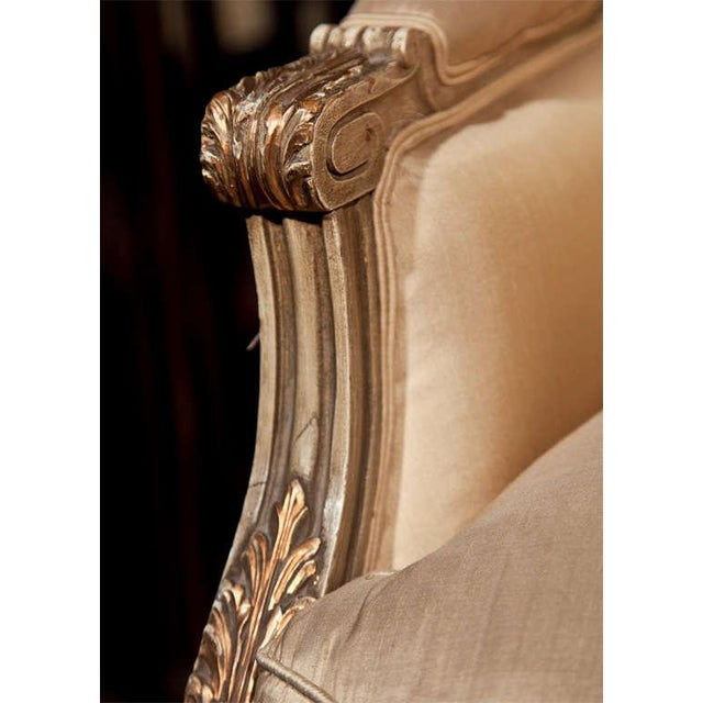 French Louis XVI Style Bergère Chairs - A Pair For Sale - Image 4 of 11