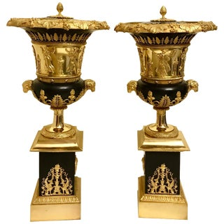 Pair of Empire Style Gilt Bronze Brule-Parfums in Manner of Thomire 19th Century For Sale