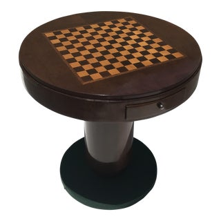 Classic French Art Deco Rosewood Round Game Table Circa 1940s.
