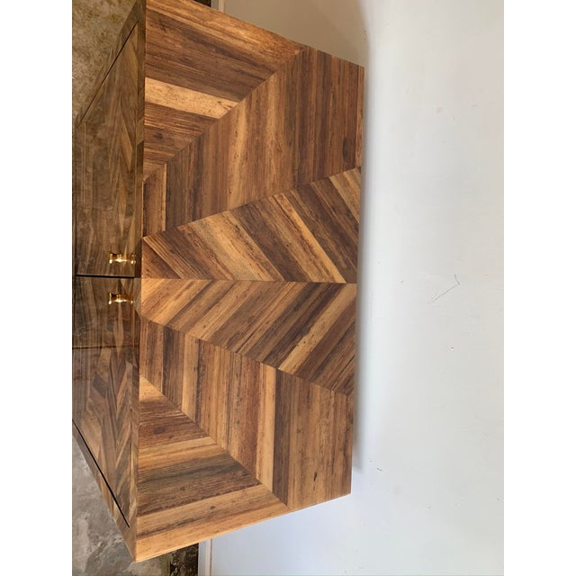 Contemporary Made Goods Banana Leaf Jada Cabinet For Sale - Image 3 of 7
