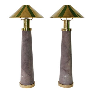 Light House Table Lamps by Karl Springer - a Pair For Sale