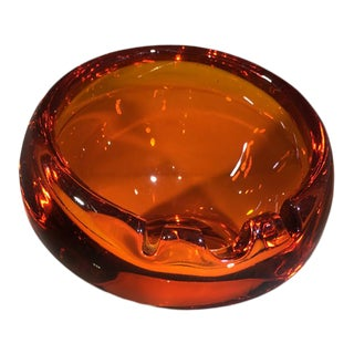 Viking Art Glass Mid-Century Ashtray For Sale
