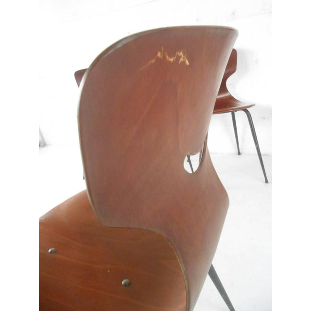 Wood Adam Stegner for Pagholz Flötotto Sculpted Chairs - Set of 6 For Sale - Image 7 of 9