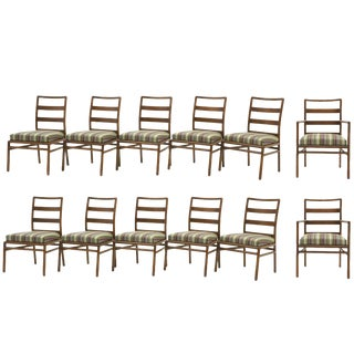 Twelve Robsjohn-Gibbings for Widdicomb Dining Chairs, 10 Armless and 2 Armchairs For Sale