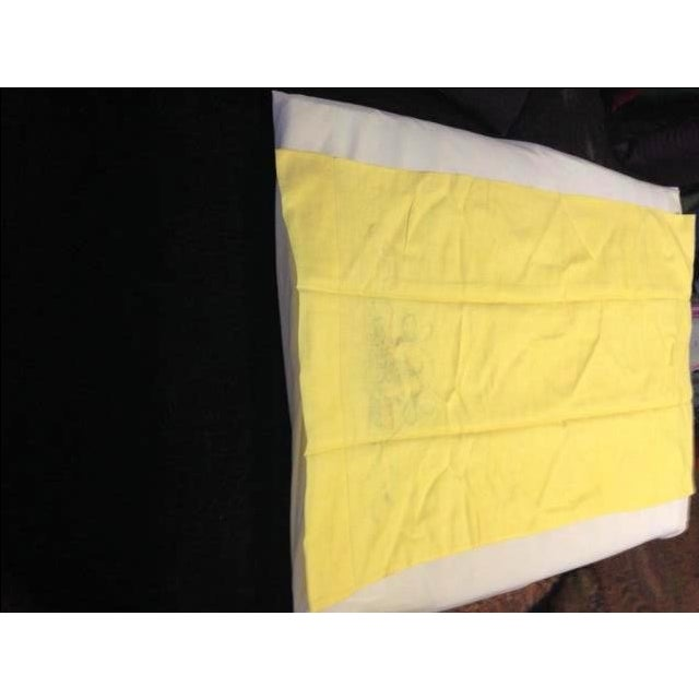 Never-Used Yellow Embroidered Pillowcases - A Pair - Image 3 of 5