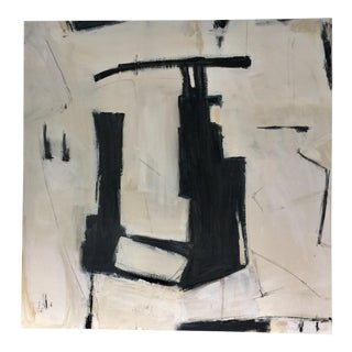 Abstract Black White and Beige For Sale