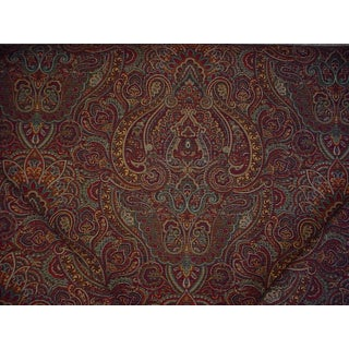 Kravet Couture Joseph Abboud Tazza Emerald Floral Paisley Upholstery Fabric - 10 Yards For Sale