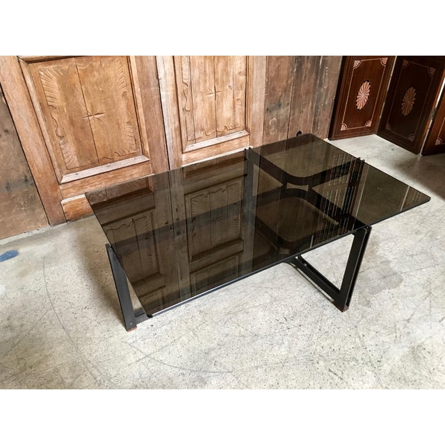 Bronze And Glass Coffee Table: Dunbar Bronze, Rosewood & Smoked Glass Coffee Table