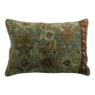 Aqua Antique Lumbar Size Pillow For Sale