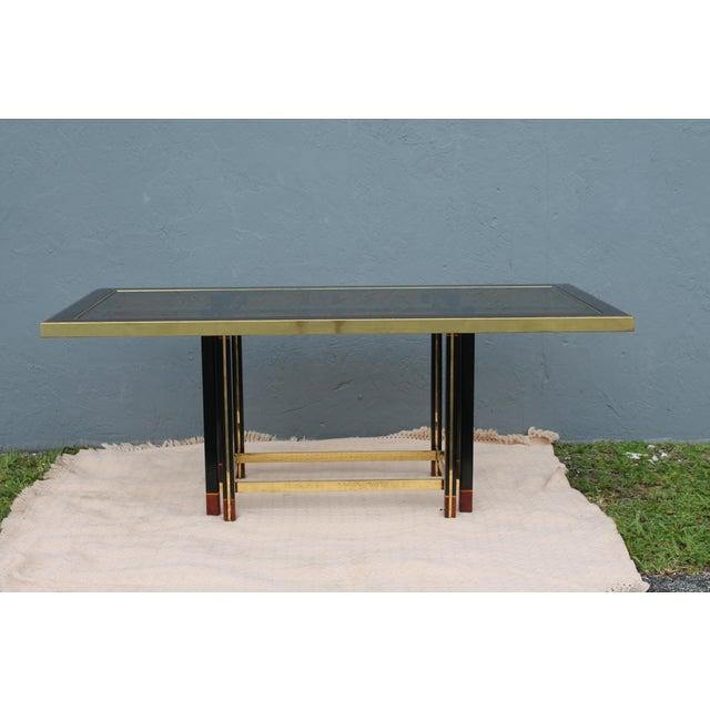 "Italian Paola Barachia ""Roman Deco Spa"" Italian Mastercraft Style Dining Table For Sale - Image 3 of 11"