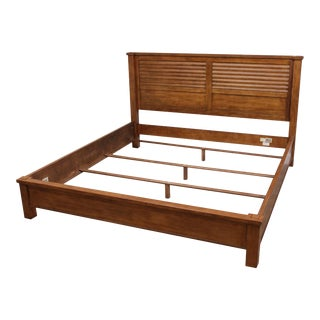 Ethan Allen King Size Louvered Drake Bed For Sale