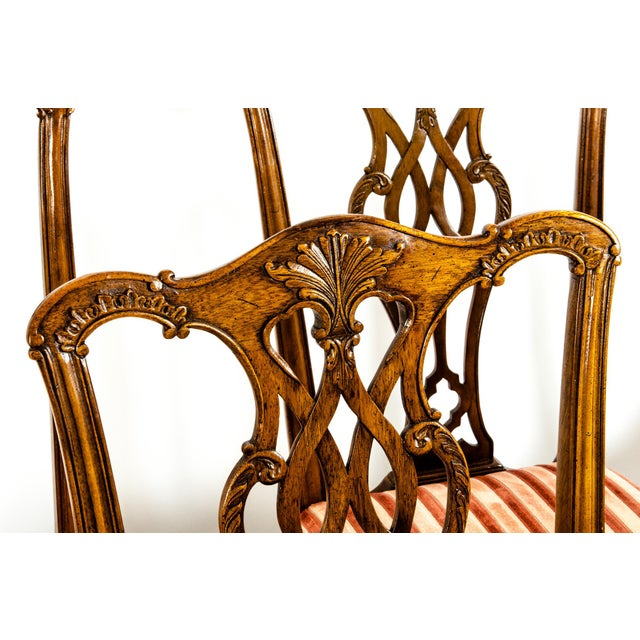George III Style Mahogany Dining Chairs - Set of 8 For Sale - Image 11 of 13