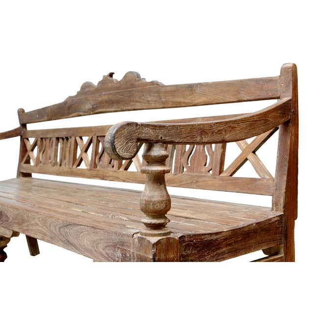Early 20th-C. Colonial Bench - Image 2 of 9