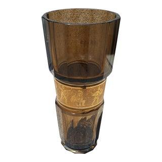 Moser Glass Faceted Crystal Art Deco Vase