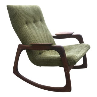 1960s Adrian Pearsall Open Arm Rocker For Sale