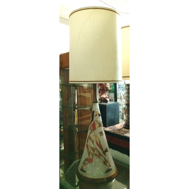 Mid Century Harlequin Lamp, Style of Marc Bellaire - Image 2 of 6