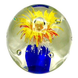 Vintage Mid Century Murano Paperweight For Sale
