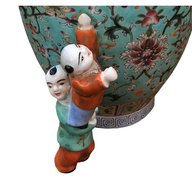 19th Century Chinese Five Boys Vase For Sale - Image 4 of 5