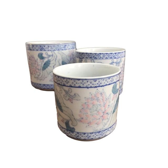 Antique Floral Pots - Set of 3 - Image 3 of 6