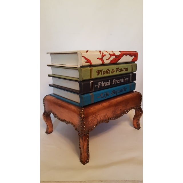 """Cabinet of Curiosities"" Lift Top Book Form Side Table For Sale - Image 4 of 10"