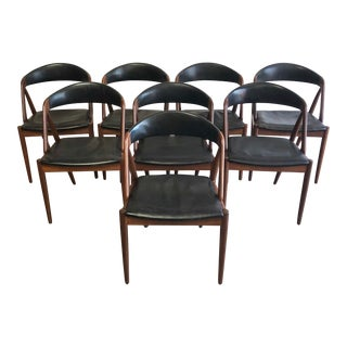 Kai Kristiansen Mid-Century Danish Modern Dining Chairs - Set of 8 For Sale