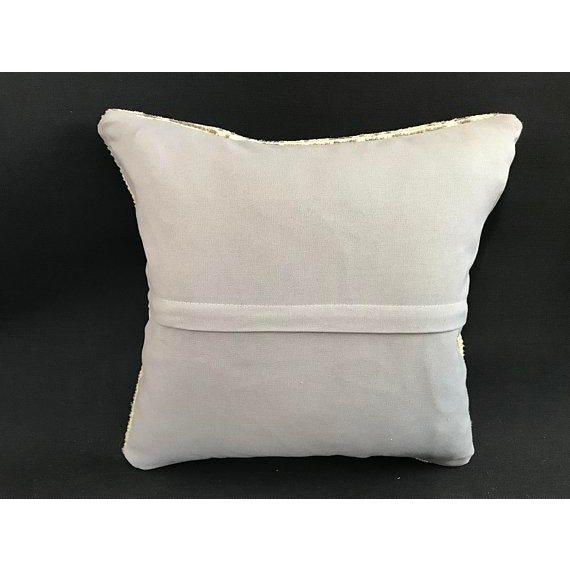 1960's Oushak Antique Hanmade Pillow Case For Sale - Image 4 of 11