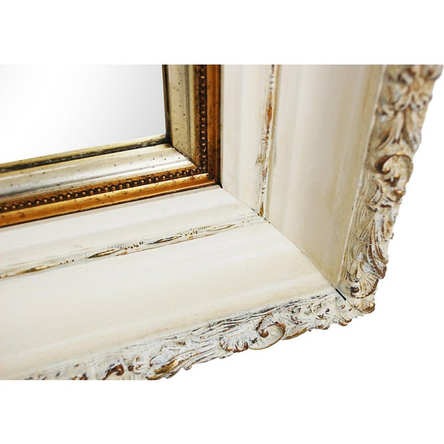 Large Antique Cream and Gold Mirror - Image 4 of 6