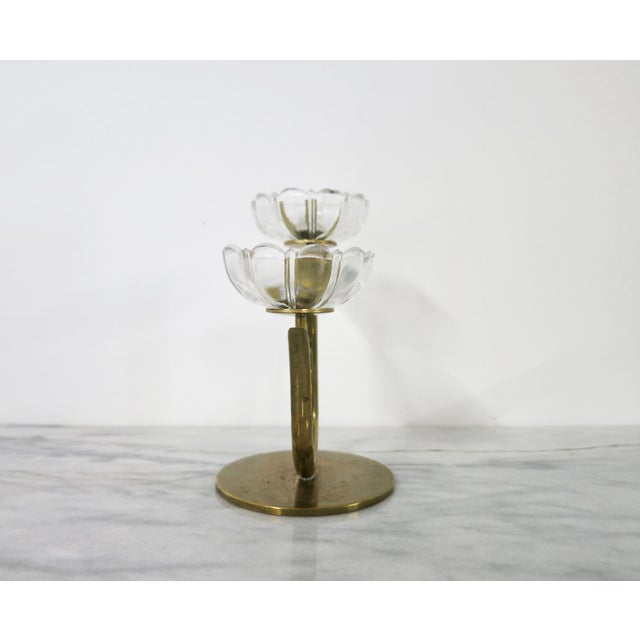 Mid 20th Century Mid 20th Century Ystad-Metall Candle Holder For Sale - Image 5 of 11