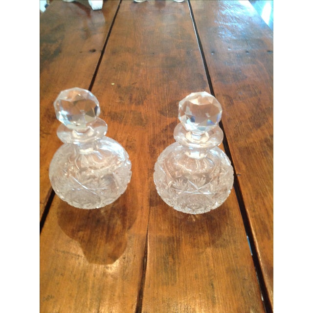 American Brilliant Cut Glass Decanters - A Pair - Image 2 of 5