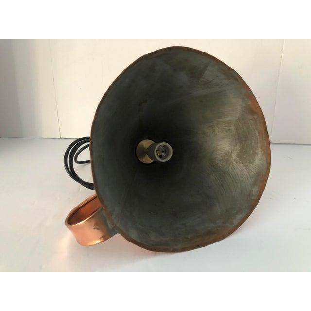 Metal Antique 19th Century Copper Funnel Light Pendants - Set of 3 For Sale - Image 7 of 13