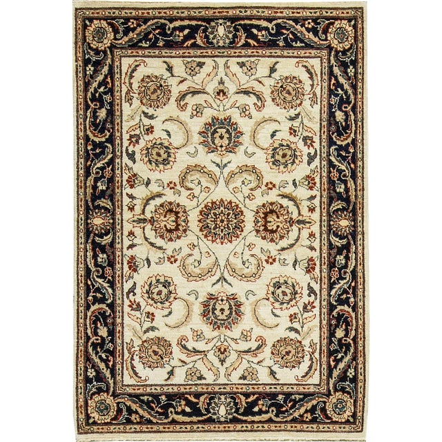 "Traditional Hand Woven Rug - 4' x 5'10"" For Sale - Image 4 of 4"