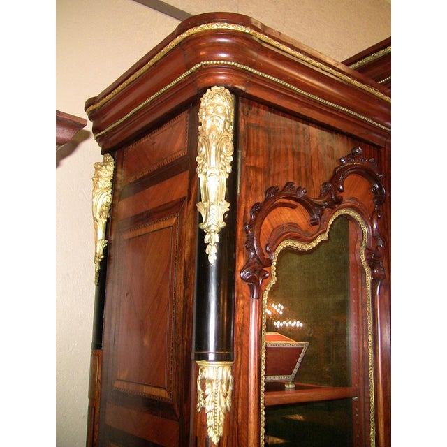 Wood 19c French Neo-Classical Revival Style Vitrine - Imposing Piece For Sale - Image 7 of 12