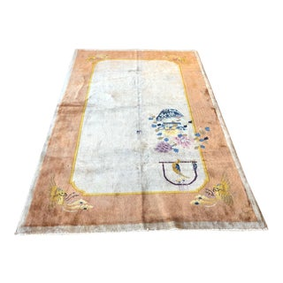 1920s Antique Art Deco Chinese Rug For Sale