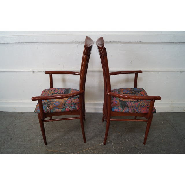 Mid Century Italian Spindle Back Dining Chairs - Set of 4 For Sale - Image 5 of 10