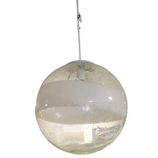 1960s Mid Century Modern Italian Mazzegga Glass Globe Light Fixture Chandelier For Sale