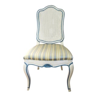 1950s French Provincial Mount Airy Furniture Cane Back Chair