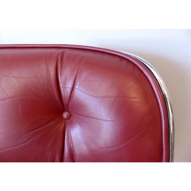 Red Charles Pollack Modern Executive Swivel Chairs for Knoll- 3 Pairs Available For Sale - Image 8 of 12