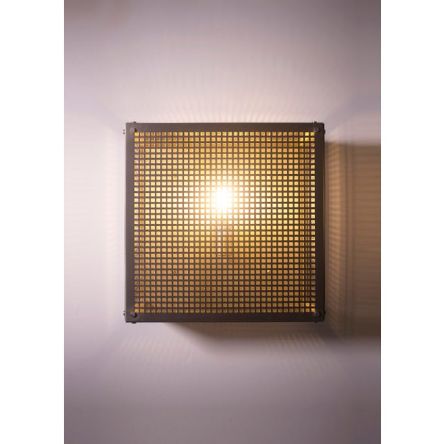 Black Modern Contemporary 001 Flush Mount in Nickel by Orphan Work For Sale - Image 8 of 10