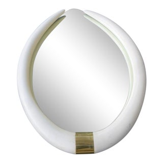 1970's Hollywood Regency Faux Tusk Mirror
