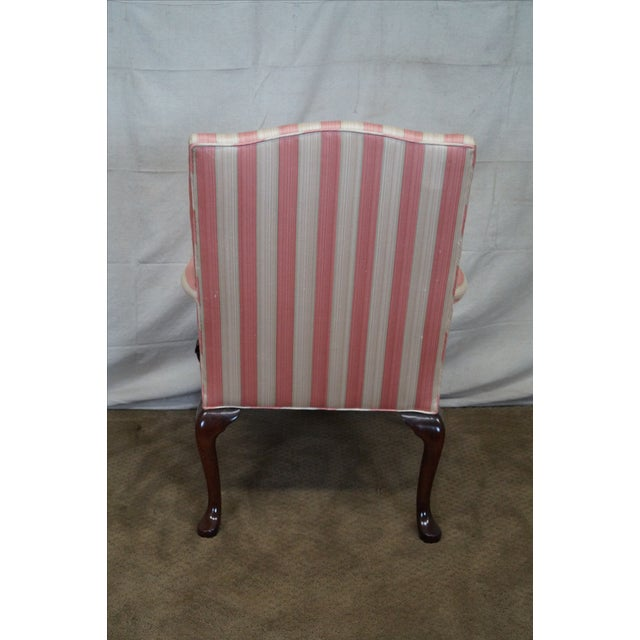 Chippendale Ball & Claw Foot Arm Chair For Sale - Image 4 of 10