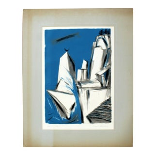 """Mid Century Modern """"Roaming Point"""" by Emil Weddige Unframed Lithograph For Sale"""