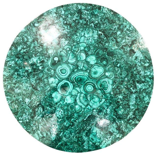 2010s Malachite Coffee Table or Side Tables by formA for Gaspare Asaro For Sale - Image 5 of 7