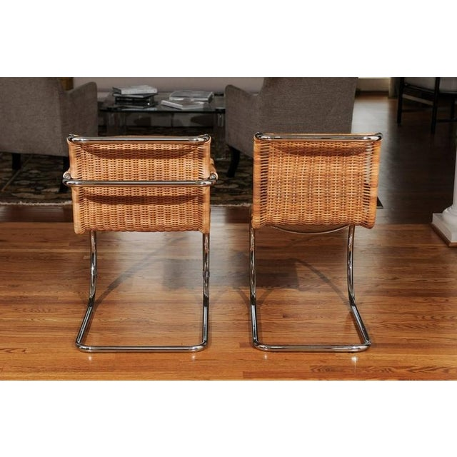 Pristine Set of Eight Italian Wicker Chairs For Sale - Image 9 of 10
