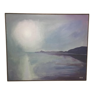 Sun Over Water An Oil on Canvas Painting by Koslow For Sale