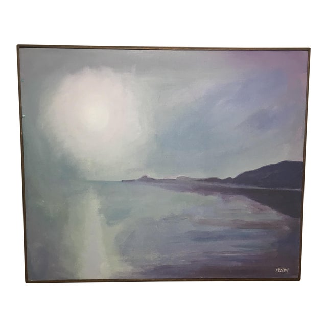 Sun Over Water An Oil on Canvas Painting by Koslow - Image 1 of 8