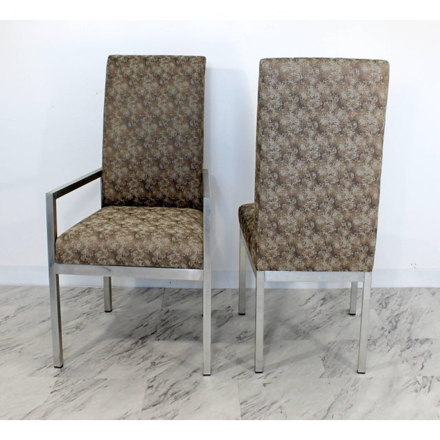 Milo Baughman Mid-Century Modern Set of Six Milo Baughman for Dia Chrome Dining Chairs For Sale - Image 4 of 10