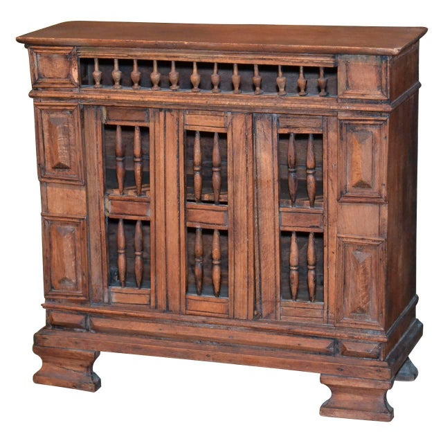 """One of a kind small table cabinet made of walnut. Italian, early 19th century. Only 15.5"""" height."""
