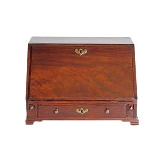 18th Century Georgian Mahogany Miniature Secretary For Sale