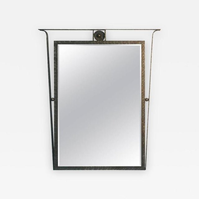 Gorgeous Carvers Guild Wall Mirror in the Manner of Jean Royere For Sale - Image 9 of 9