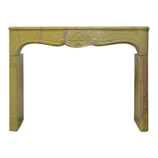 French Corton Violine Louis XV Fireplace For Sale